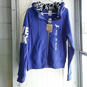 NWT VS PINK fashion show zip up hoodie!